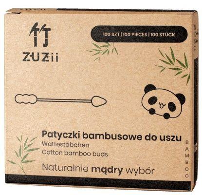 Obrazek ZUZii Patyczki kosmetyczne z bambusa i bawełny