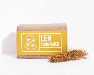 Obrazek Mydło naturalne Len i Rumianek 110 g CZTERY SZPAKI