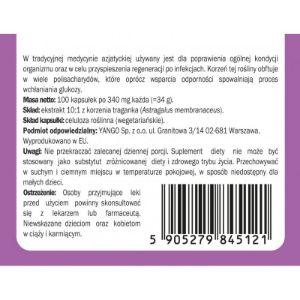 Obrazek Traganek - ekstrakt 10:1 - 100 kapsułek