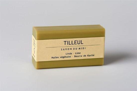 Obrazek Mydło prowansalskie z masłem shea, kwiat lipy